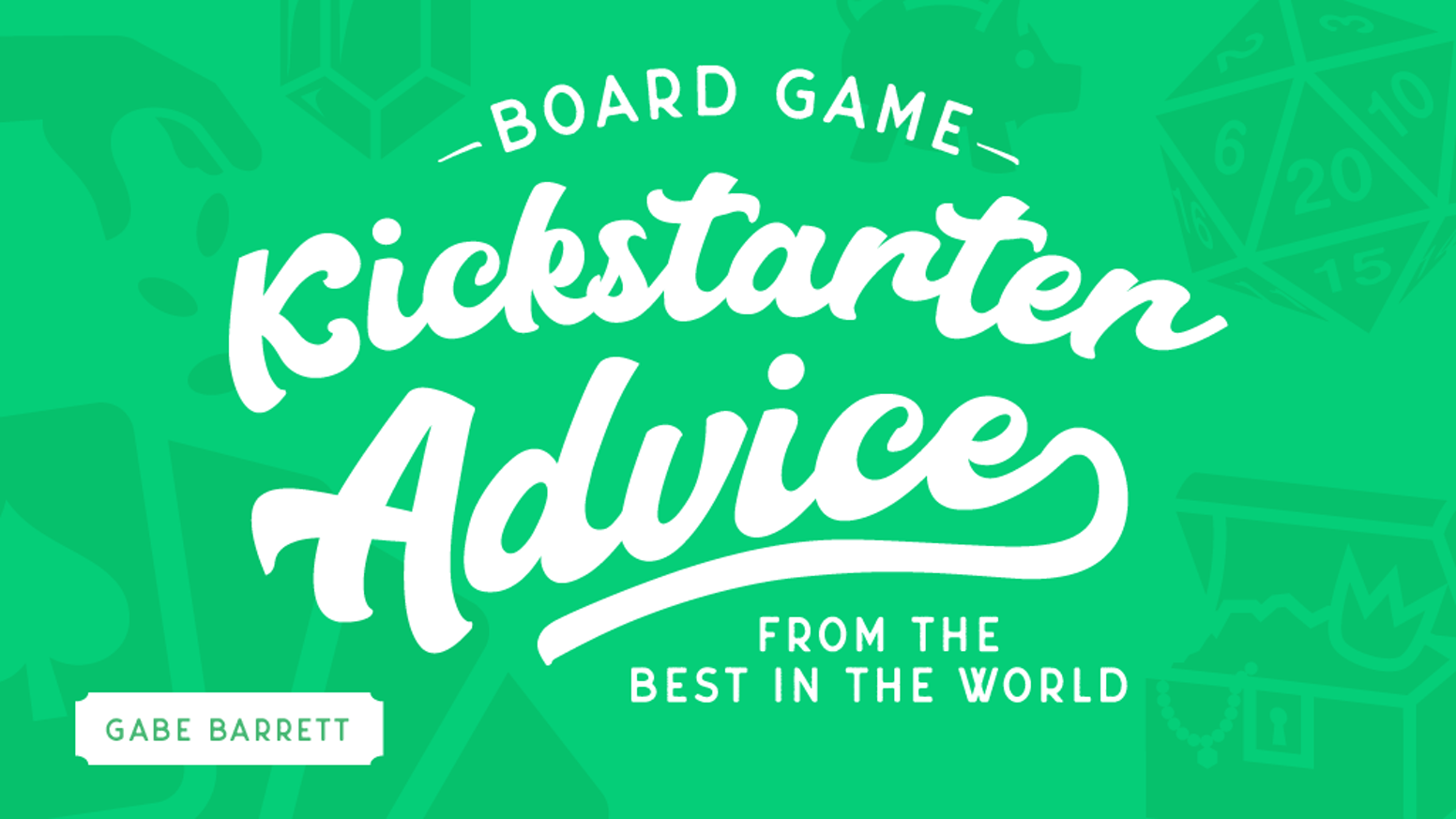 Board Game Kickstarter Advice